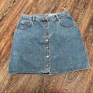 Asos Button Front Denim Skirt Size 8